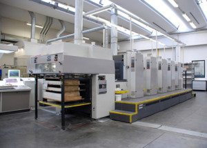 A typical sheet fed printing press